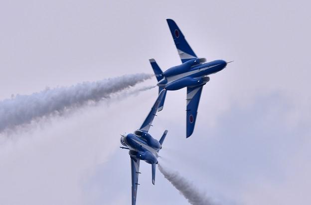 築城基地航空祭。。ブルーインパルスタッククロス