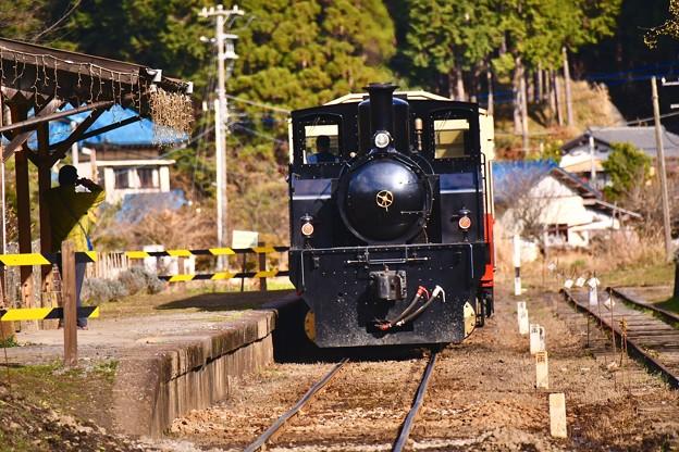 小湊鉄道トロッコ列車。。飯給へ向かう 20171210