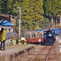 小湊鉄道月崎駅。。最後まで見えなくなるまで見送る風景 20171210