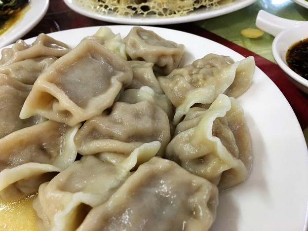 遼寧餃子館 餃子と木耳炒め (11)