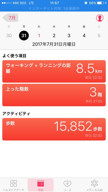 関空での歩数