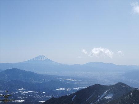 杣添尾根からの富士山