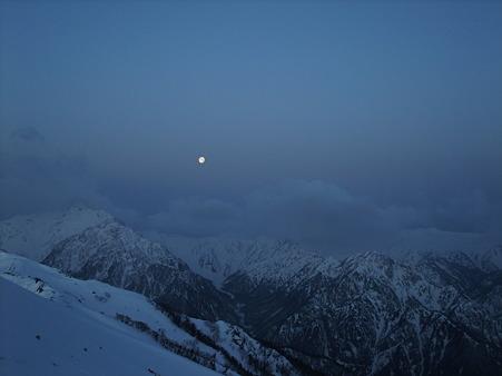 月と裏銀座