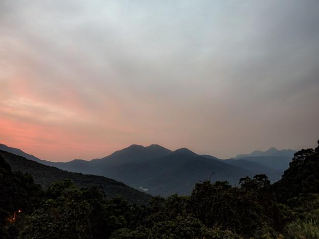 香港の山景