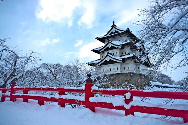 雪化粧の城