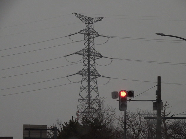 赤信号と能代火力線 20号?鉄塔