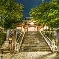 写真: 山門夜景 ~福地山修禅萬安禅寺~