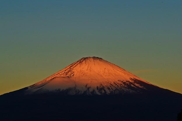 Photos: 朝日の当たる山 ~Mt.FUJI~