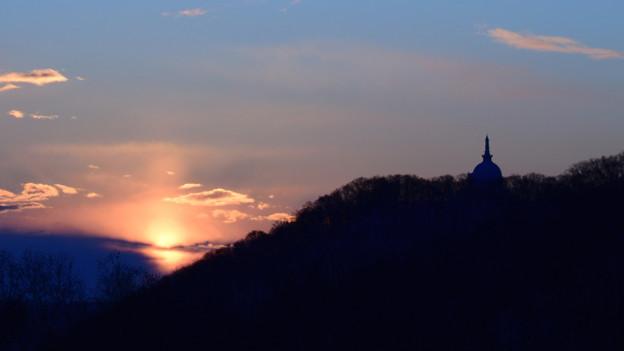 札幌藻岩山の夜明け