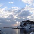 写真: 岬の朝