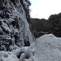滝の横まで登った