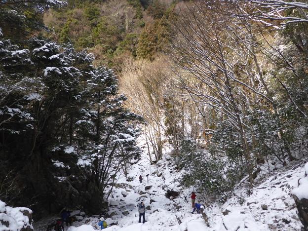 扁妙の滝から下流を望む