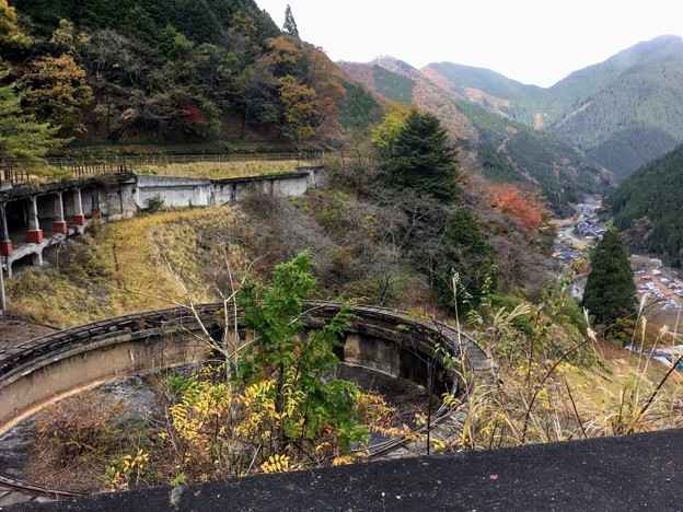 神子畑選鉱場跡 最上部からの眺め