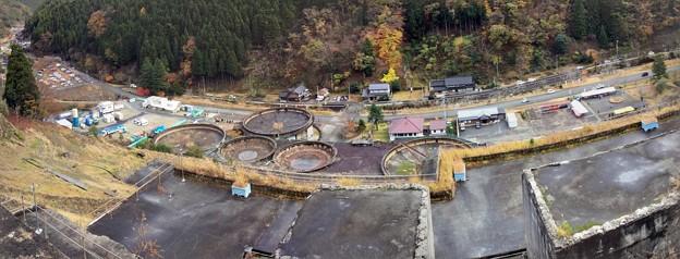 神子畑選鉱場跡 上部からの眺め(パノラマ)