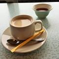 写真: 門真試験場でコーヒー