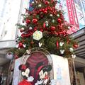 渋谷*東急本店前のクリスマスツリー