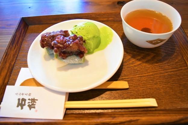期間限定の石餅×祇園辻利 抹茶アイス