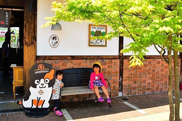 貴志駅駅舎でひと休み