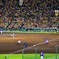 写真: 投手戦の試合