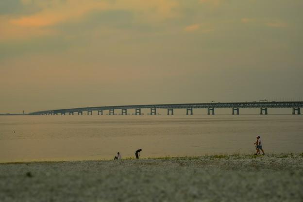 関西国際空港連絡橋を望む