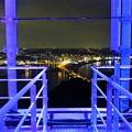 螺旋階段からの夜景