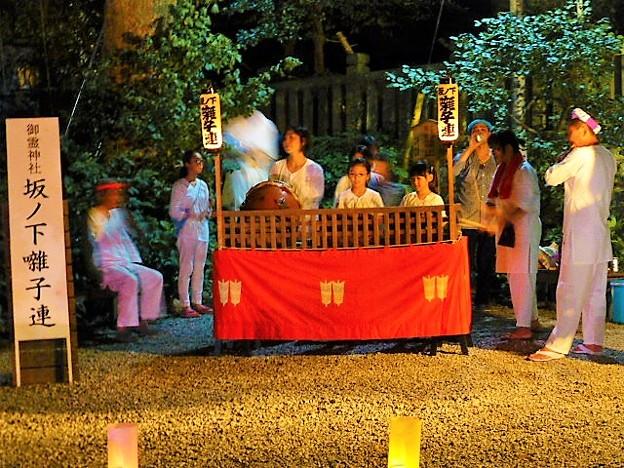 賑やかな鎌倉囃子の演奏