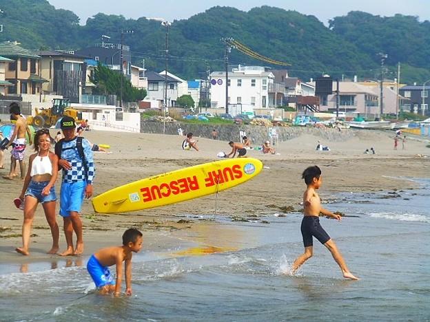 写真: 海だー!