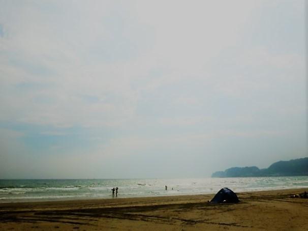 真夏の太陽と海のキラメキ