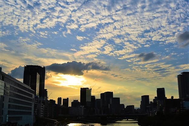 天満橋の夕焼け