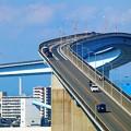 Photos: スリル満点のなみはや大橋