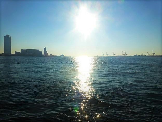 夕日がキラキラ