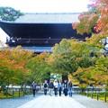 南禅寺の三門と紅葉