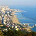 須摩の海を一望