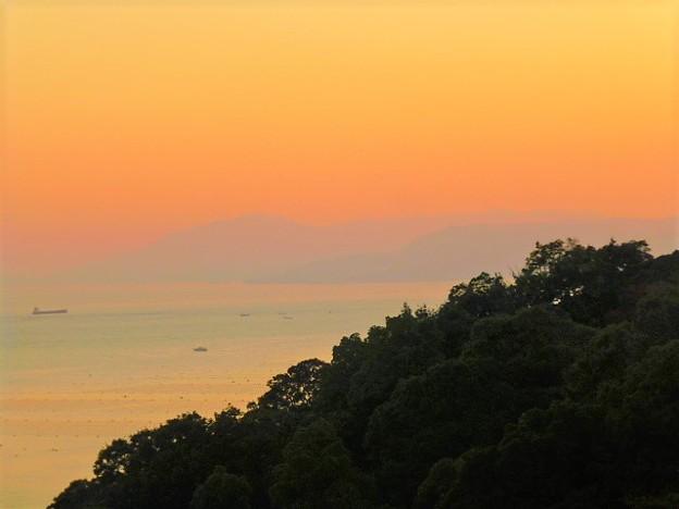 淡路島と夕焼け