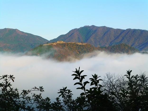 竹田城跡第三展望台からの眺め