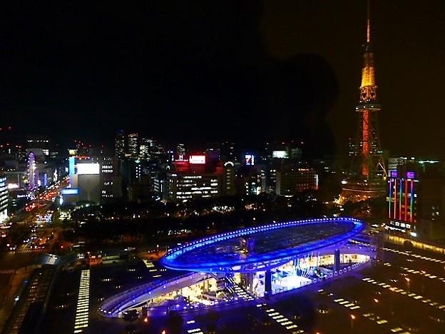 愛知県芸術劇場 展望回廊からの夜景