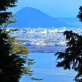 ケーブルからの三上山(近江富士)