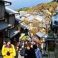 写真: 産寧坂の上からの眺め