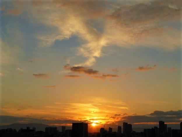 写真: 昇ってきた朝日