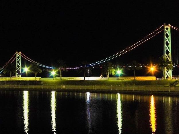 Photos: 明石海峡大橋ライトアップ