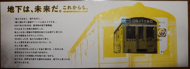 当選品 東京メトロ前線カード(10/27~2018/01/24日限り)