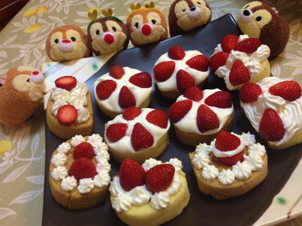 家内のひと工夫によるプチクリスマスケーキ