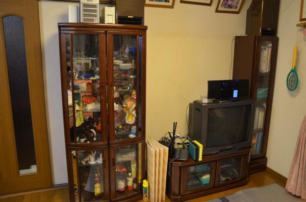 大画面テレビを置くスペースができました
