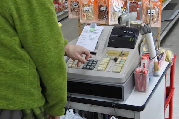 ひと品の金額を打つ度に「ジジジジッ」と印字するレジ