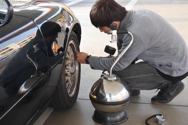 空気圧のチェック方法とエアー充填方法もマスター