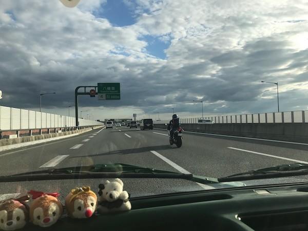 京都からの帰りの車の中で娘は爆睡