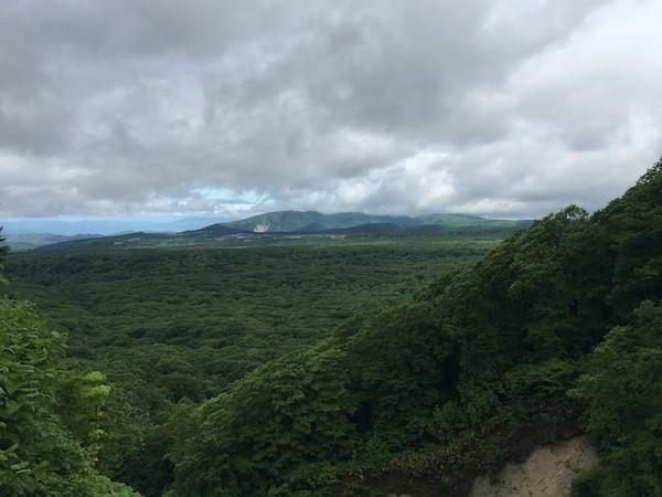 岩木山が雲で見えない。紅葉シーズンはさぞ綺麗でしょう。