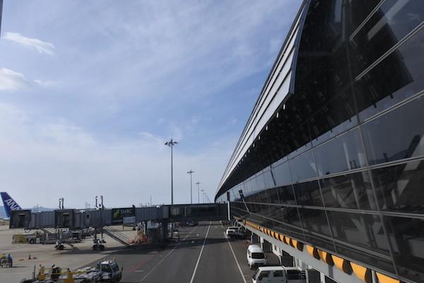 7日の午前に関西空港へ到着