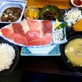 写真: 静岡旅行-清水港のお刺身定食