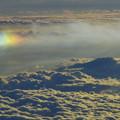 写真: 彩雲と鳥海山